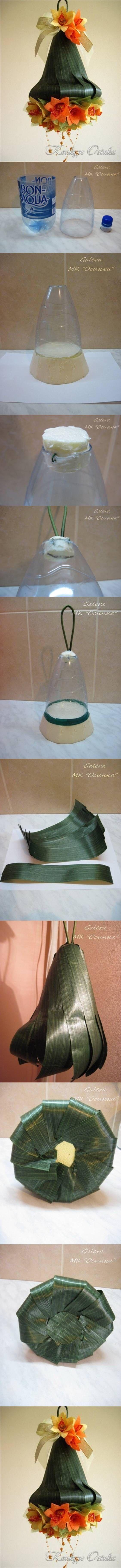 DIY Plastic Bottle Bell Ornament