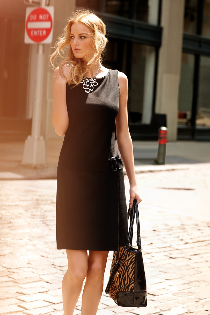 Classic black with a tiger accent.  #whbm: The Dress