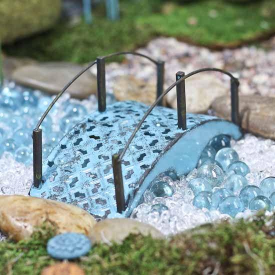 Miniature Fairy Garden Bridge #fairygarden