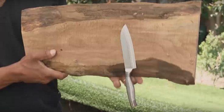 Потрясающий магнитный держатель для ножей своими руками