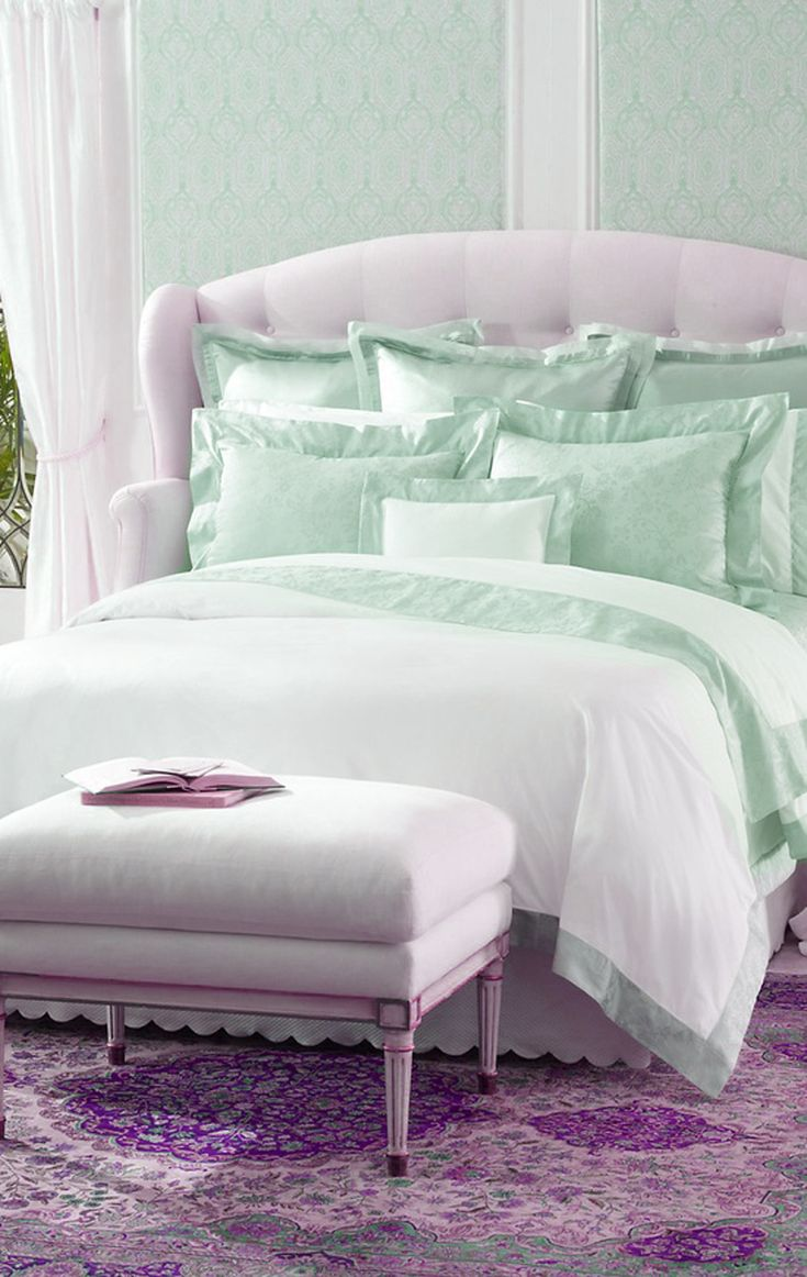 Mint and lavender bedding lovely shabby chic pinterest - Bedrooms decoration ...