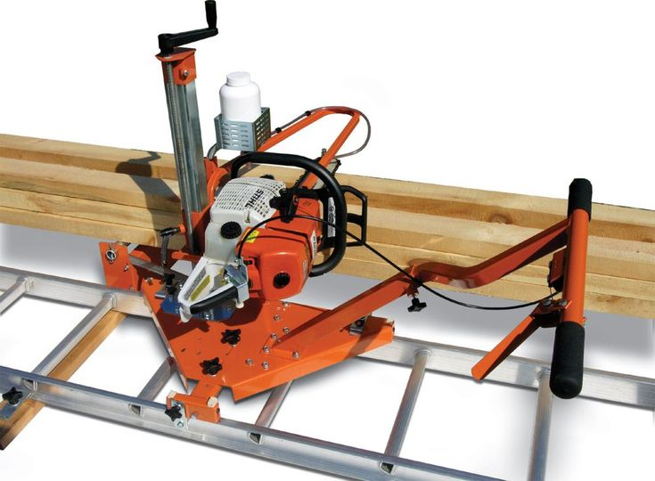 PortaMill chainsaw sawmill turns your chainsaw and ladder into a portable sawmill perfect for occasional milling or milling in remote locations. Shown with optional oiler kit