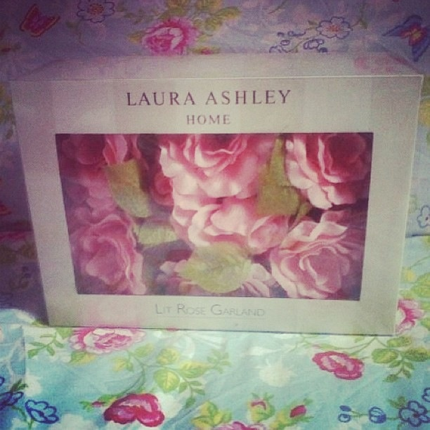 my laura ashley pink rose fairy lights guest bedroom
