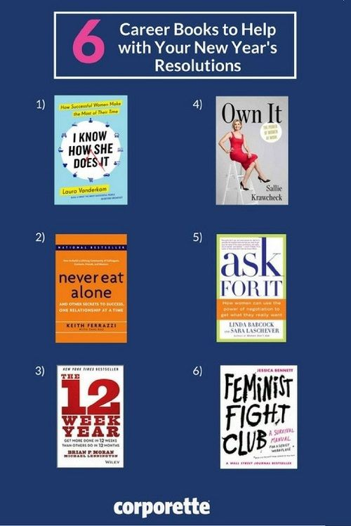 We rounded up six books to help you achieve your New Year resolutions for your career and beyond, including I Know How She Does It, The 12 Week Year, Never Eat Alone, Own It, Ask For It, and Feminist Fight Club! Which are your favorite books for career advice and practical self-help tips?