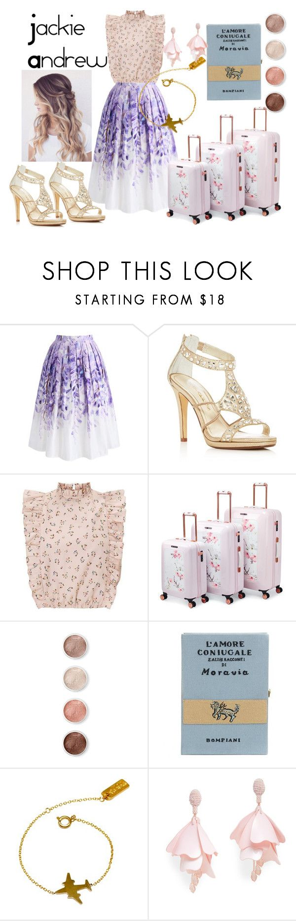 """""""Jacie & Jacki Andrew"""" by sophiachabo ❤ liked on Polyvore featuring Chicwish, Caparros, Ted Baker, Terre Mère, Olympia Le-Tan, VANINA and Oscar de la Renta Pink Label"""