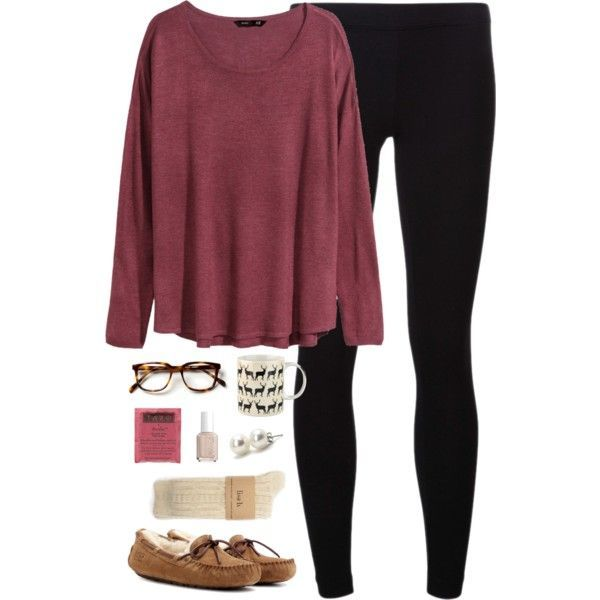 A fashion look from October 2014 featuring H&M sweaters, James Perse leggings and UGG Australia shoes. Browse and shop related looks.