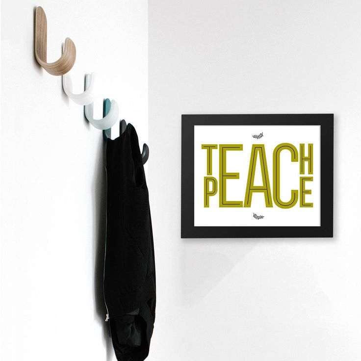 "Teach Peace / 10"" x 8"" Digital Printable / Home Decor / Family Values / For Mudroom or Entry by CreativeJamPress on Etsy"