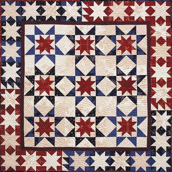 Beautiful Americana Quilts for Memorial Day | QuilterChic