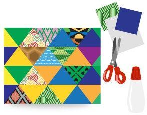 Moderný geometrický obraz