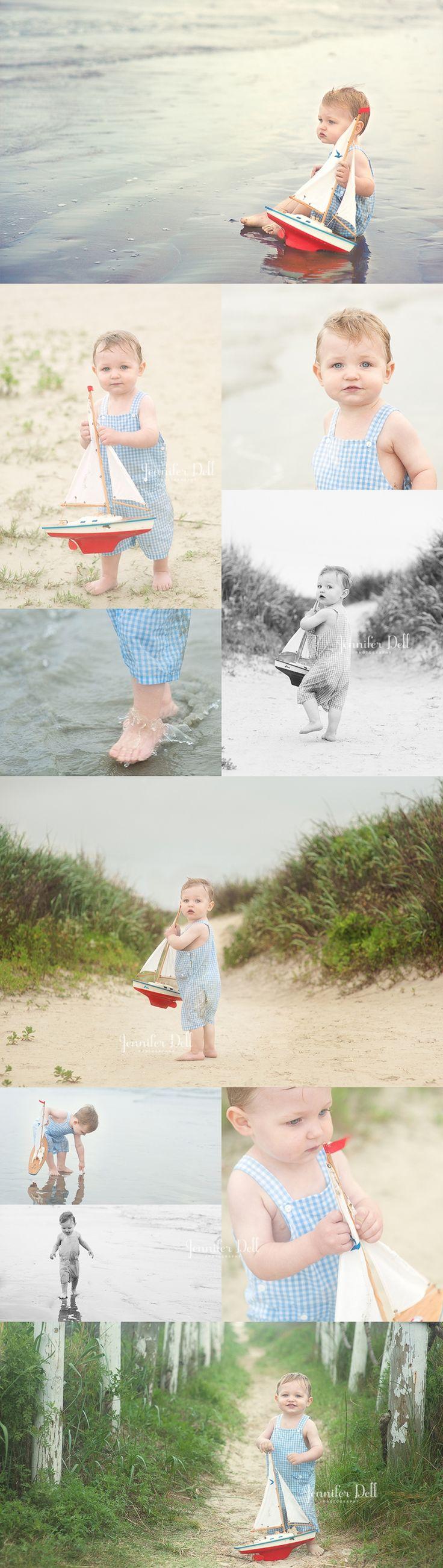 A boy, a boat and a beach