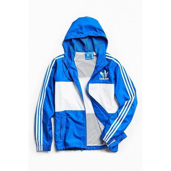adidas California Windbreaker Jacket ($89) ❤ liked on Polyvore featuring men's fashion, men's clothing, men's activewear, men's activewear jackets and adidas