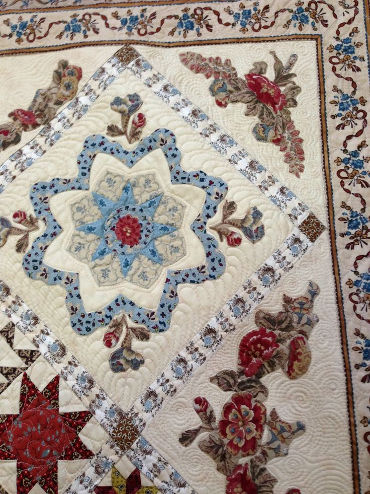 Moreen Dainty Has Made this beautiful quilt. It is a pattern by Di Ford named 'Antique Wedding Sampler' -revisited. The pattern for th...