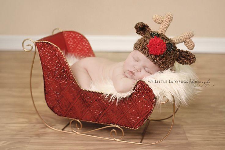 Newborn Baby Rudoph Reindeer Christmas by PerfectlySweetItems, $25.00