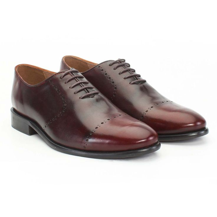 Buy online #GENUINE #LEATHER BURNISHED FORMAL #SHOES @ voganow.com for Rs.4,999/-