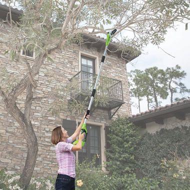 The Cordless Long Reach Chainsaw - Hammacher Schlemmer