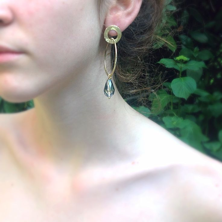 Handmade - brass earrings- My ZiZi Jewels