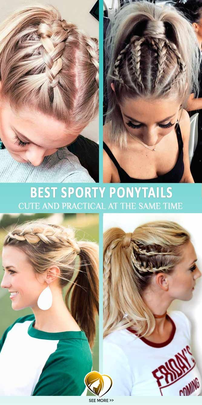 These Ponytail Hairstyles Will Be Of Great Help As They Are Extremely Practical And Still Look Cute Sporty Hairstyles Volleyball Hairstyles Sports Hairstyles
