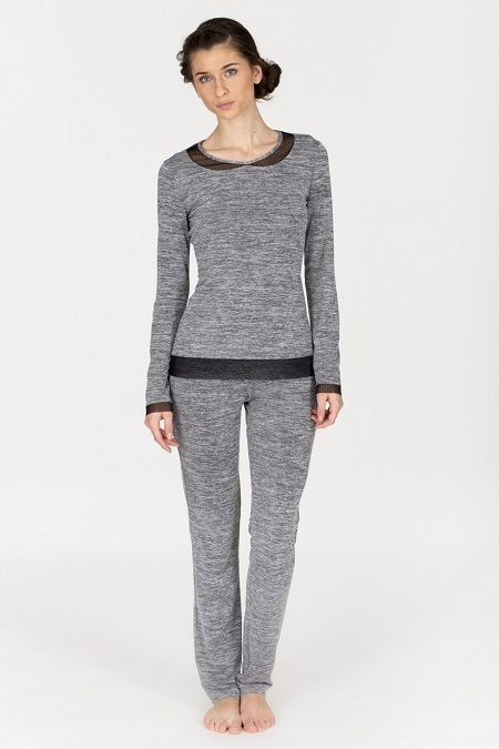Pijama mujer invierno modelo  Tul en Gris by Egatex