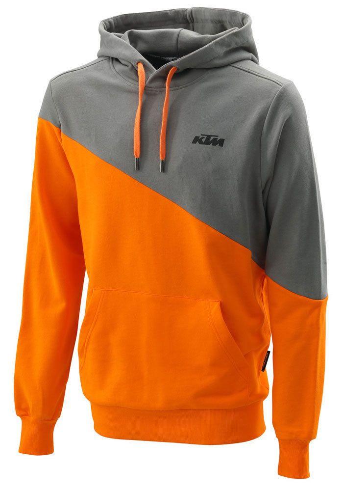 Ktm Hooded Diagonal Grey Orange Hoodie Rrp 59 46 Hoodie Fashion Stylish Hoodies Sweater Fashion