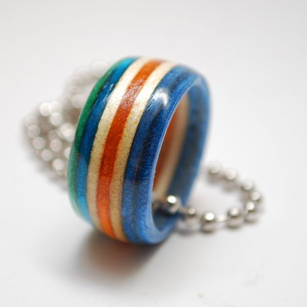 Grab one of our recycled skateboard rings for just $9. https://skateboardjewelry.com/product/original-skateboard-ring-necklace/