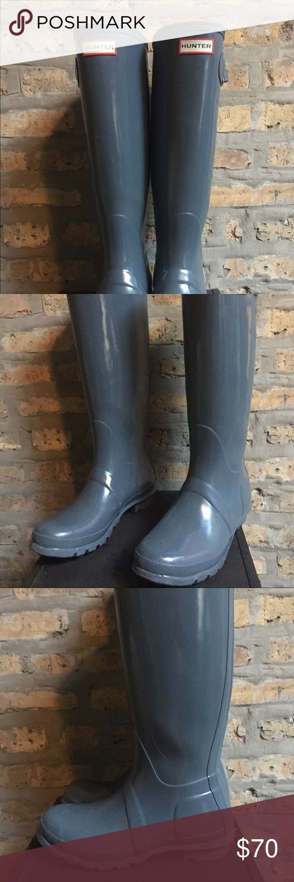 Women's Tall, Grey Hunter Boots They've treated me well but I have my eye on another pair already! Really good condition! Hunter Boots Shoes Winter & Rain Boots