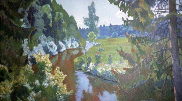 Arkadij Aleksandrovic Rylov (1870-1939) - In the Green Banks