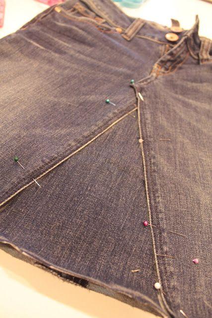 Tuto : transformation d'un Jeans en Jupe !!