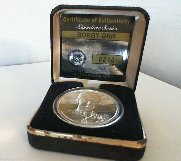Rare 1982 .999 Silver BOBBY ORR Coin One Of Only 1000 ...