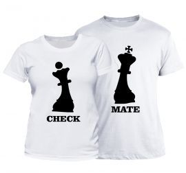 Set tricou cuplu CheckMate