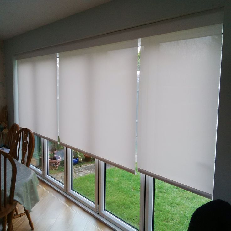 Battery Operated Roller Blinds With Mermet Fabric Neatly