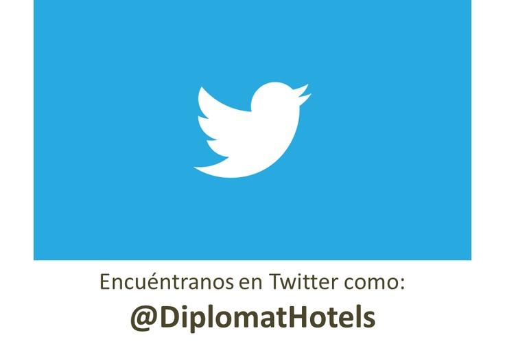 Encuéntranos en Twitter como @DiplomatHotels