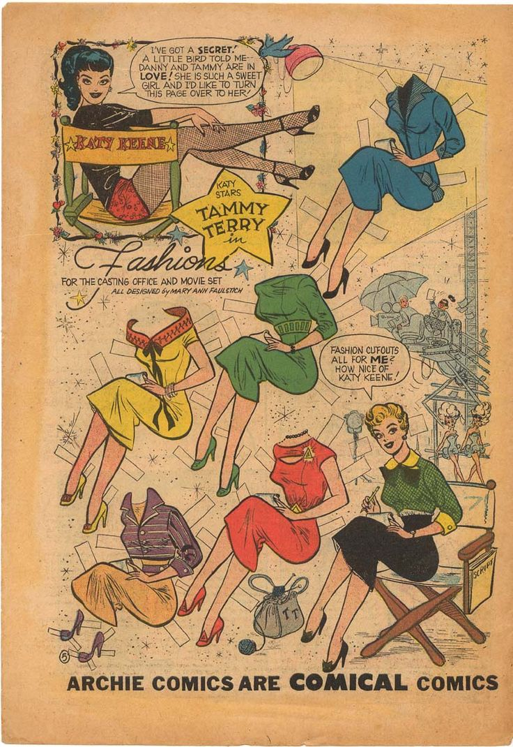 Tammy Terry from Katy Keene Comic Book Paper Dolls - Vol #1 #41 7-1958
