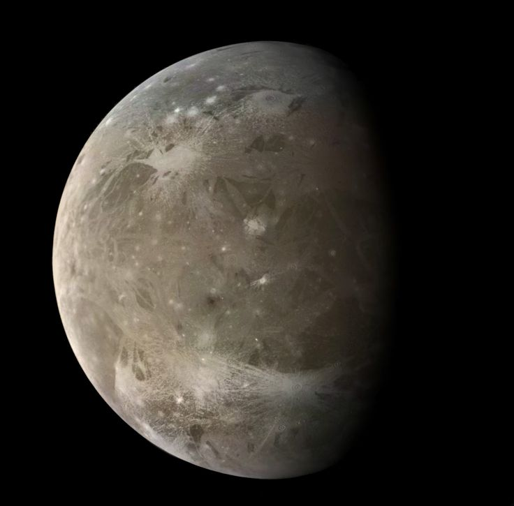 Ganymede, moon of Jupiter. Also largest moon in our system. Bigger and more interesting than Mercury.
