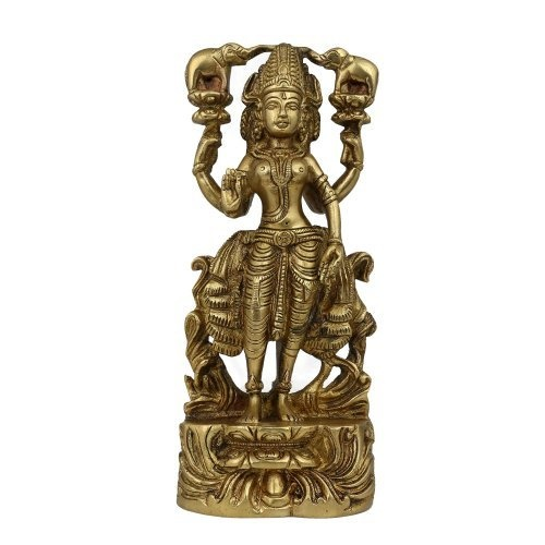 Amazon.com: Goddess Lakshmi Statue Sculpture Hindu Art Religious Idol Figurine; Brass; 3.5 X 1.75 X 8 Inches: Home & Kitchen