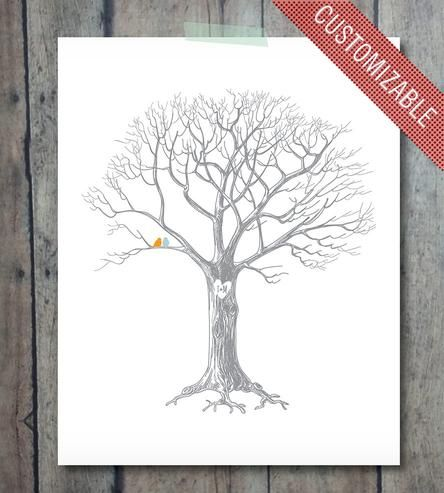 Custom+Wedding+Tree+Print+by+Print+Smitten+on+Scoutmob+Shoppe. As the guest book!