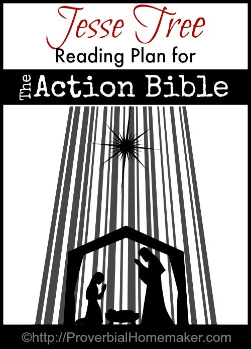 Jesse Tree Reading Plan for the Action Bible - includes reading plan, drawing challenges, and printable ornaments. | ProverbialHomemaker.com
