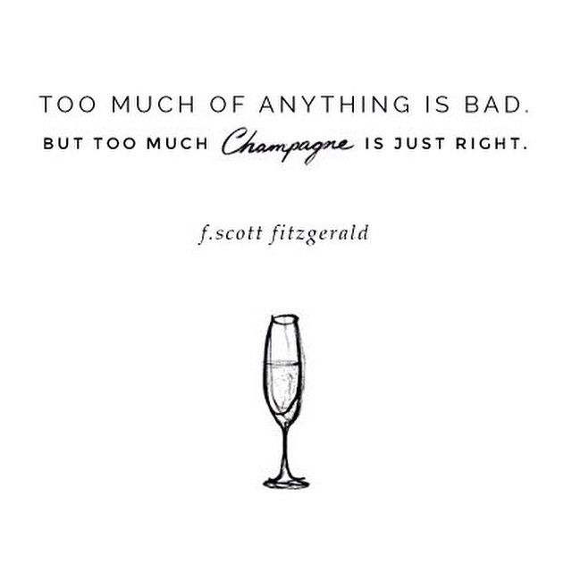 ++ everything in moderation, minus champagne... always ++