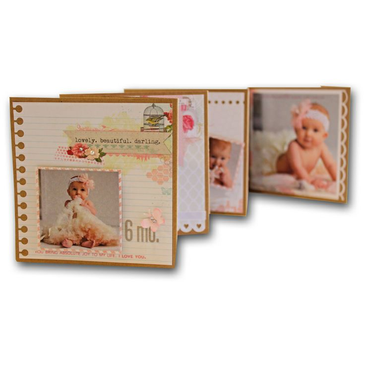 Baby Accordion Fold Mini AlbumBaby'S Accordion, Folding Minis, Accordion Baby, Accordion Folding, Crafts Idease 3, Minis Album, Baby Album, Baby Accordion, Mini Albums