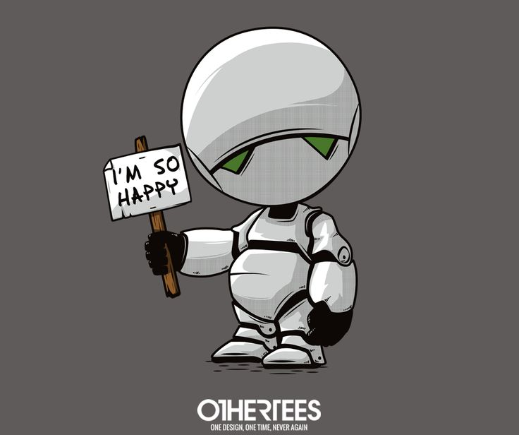 """""""I'm so happy"""" by Theduc shirts, Tank Tops, V-necks, Sweatshirts and Hoodies are on sale until May 9th at www.OtherTees.com #marvin #thgttg #OtherTees"""