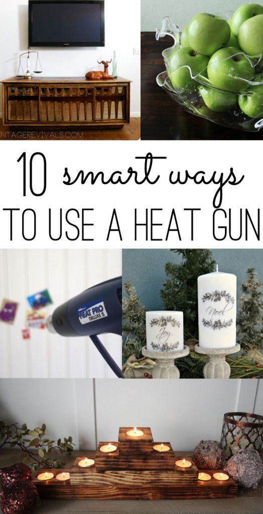 10 Smart Ways to Use a Heat Gun written by Gina Luker | HomeRight