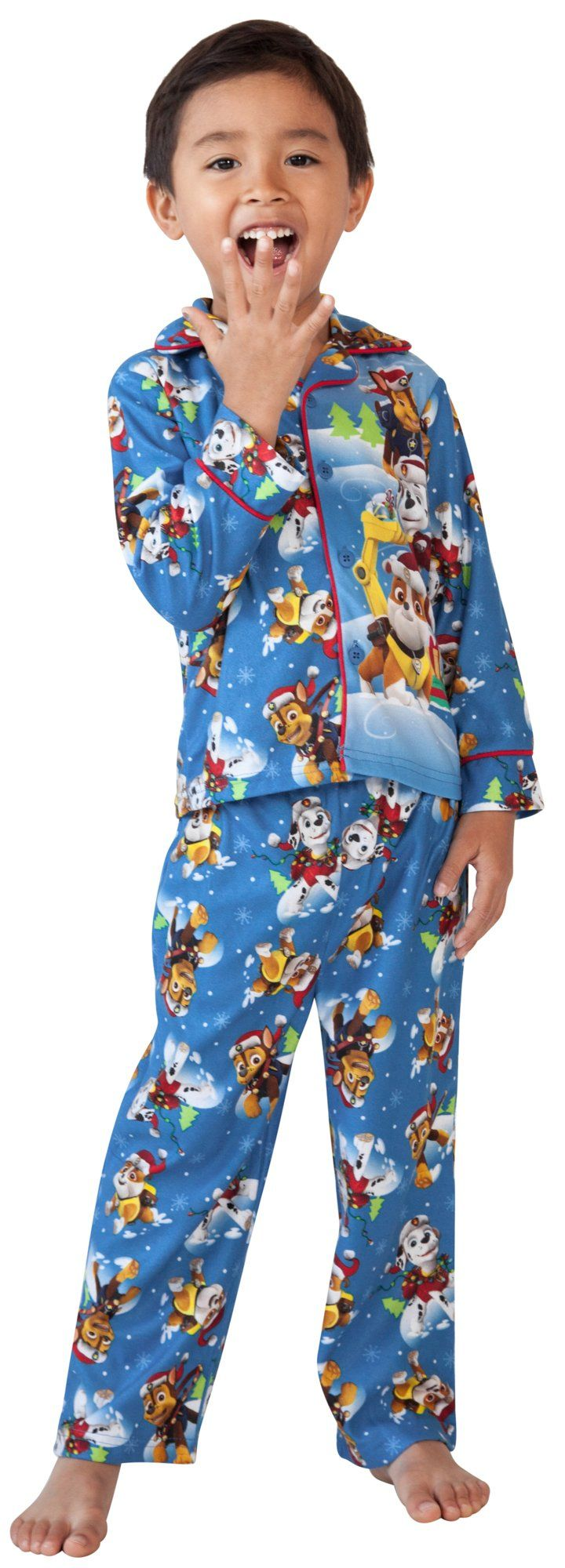 Paw Patrol Christmas Toddler Boys 2-Piece Pajama Set