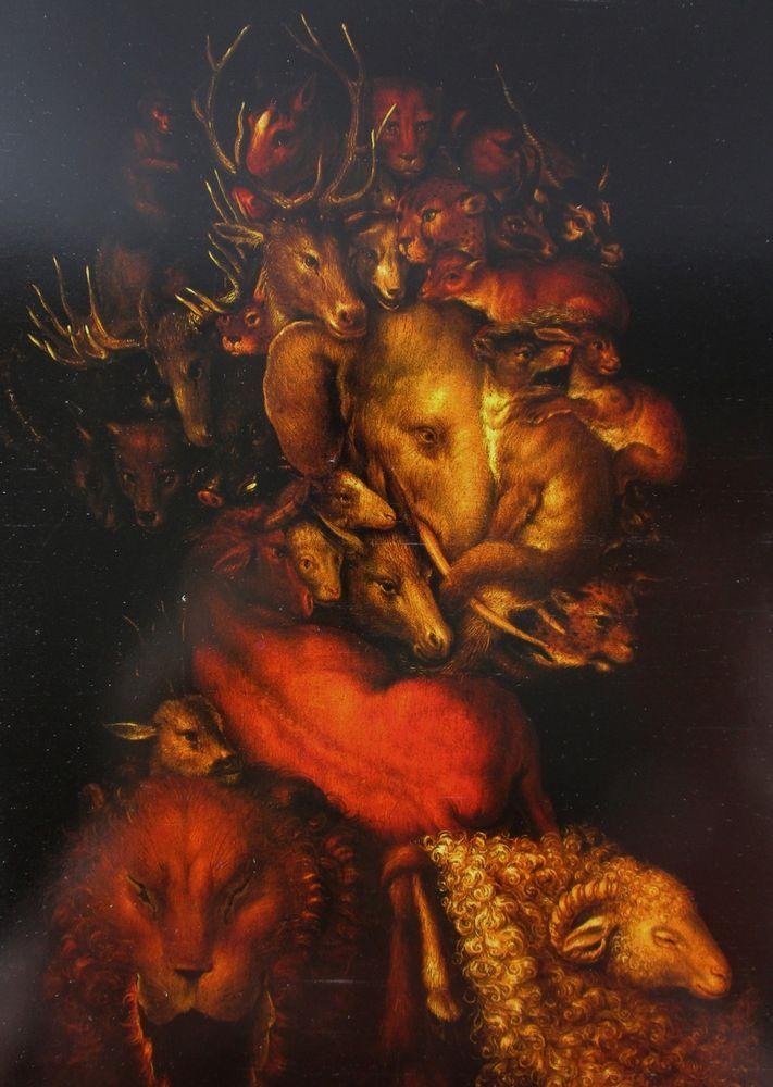 Earth Giuseppe Arcimboldo 1570 Grotesque Head Elephant Ram Deer Stag Animals #Surrealism