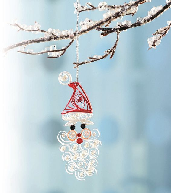 Quilled Santa Ornament by all things paper, via Flickr