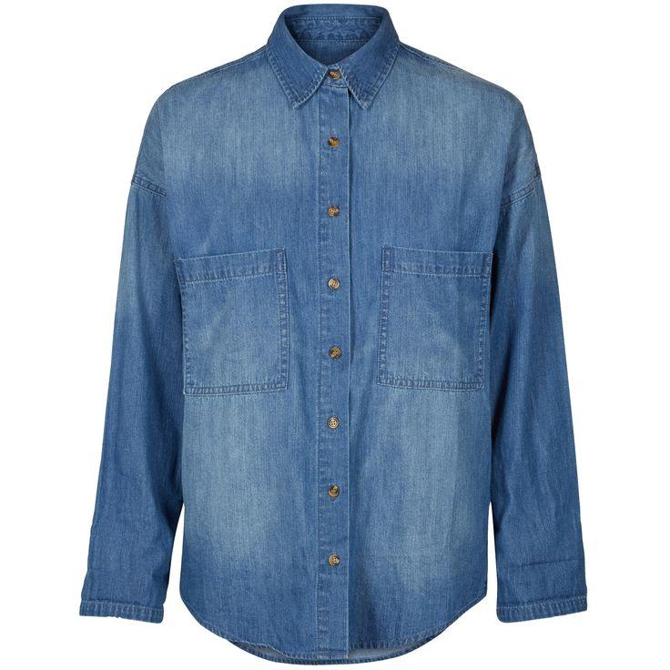 Jamie denim shirt Cool blue denim shirt. Black Swan Fashion SS17