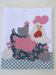 Resultado de imagem para galinha em patch apliqué