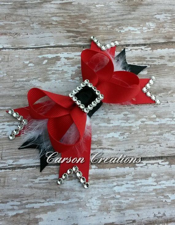Santa Claus Hair bow Christmas bow Holiday by CarsonCreations07