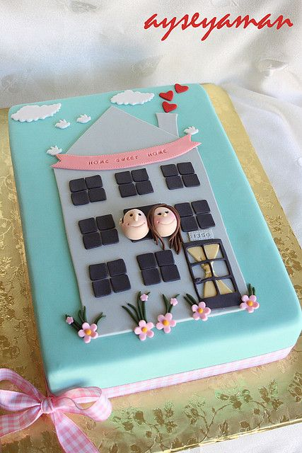 house warming cake by ayse's cakes in new jersey, new york, via Flickr