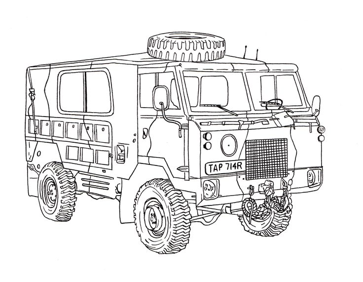 Land Rover 101 Forward Control Ink Drawing (com imagens