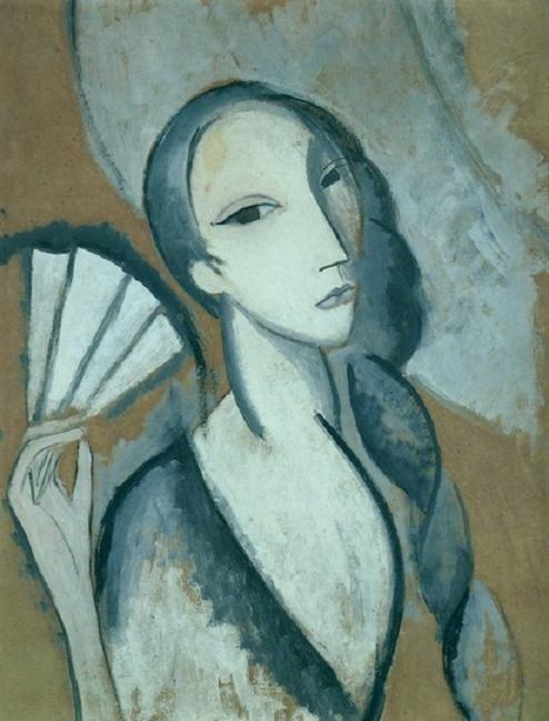 Marie Laurencin - L'Eventail, 1911 (regardintemporel.tumblr.com)