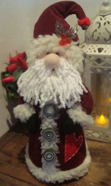 Vanessa Pracanico: Papai noel e boneco de neve peso de porta